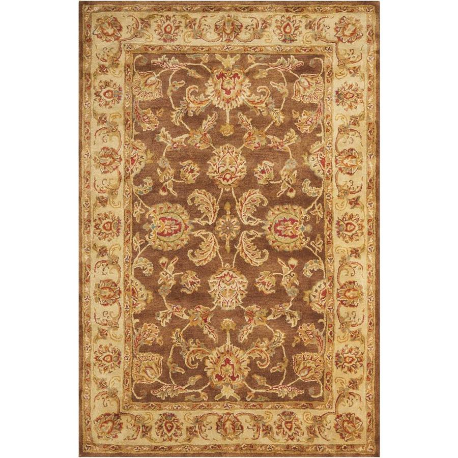Nourison Jaipur Brown Rectangular Indoor Handcrafted Area Rug (Common: 5 x 7; Actual: 5.5-ft W x 8.5-ft L x 0.75-ft dia)