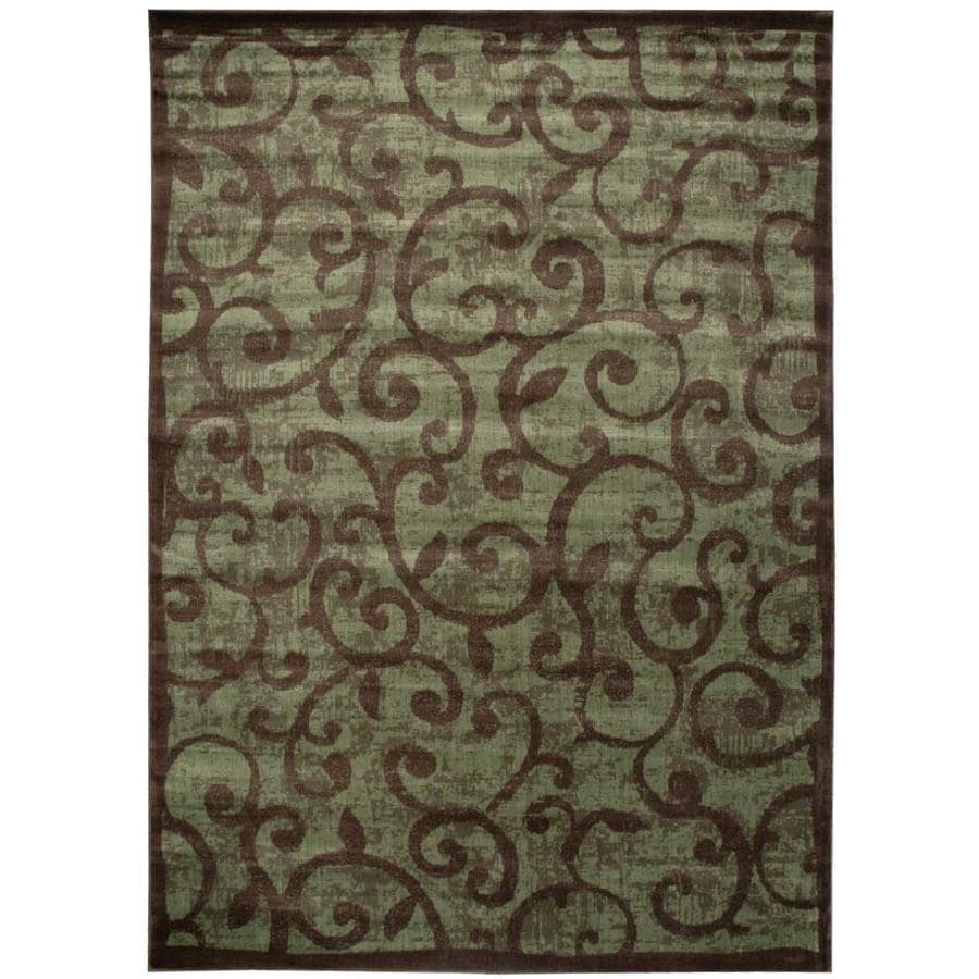 Nourison Expressions Brown Rectangular Indoor Area Rug (Common: 9 x 13; Actual: 9.5-ft W x 13.5-ft L x 0.5-ft dia)