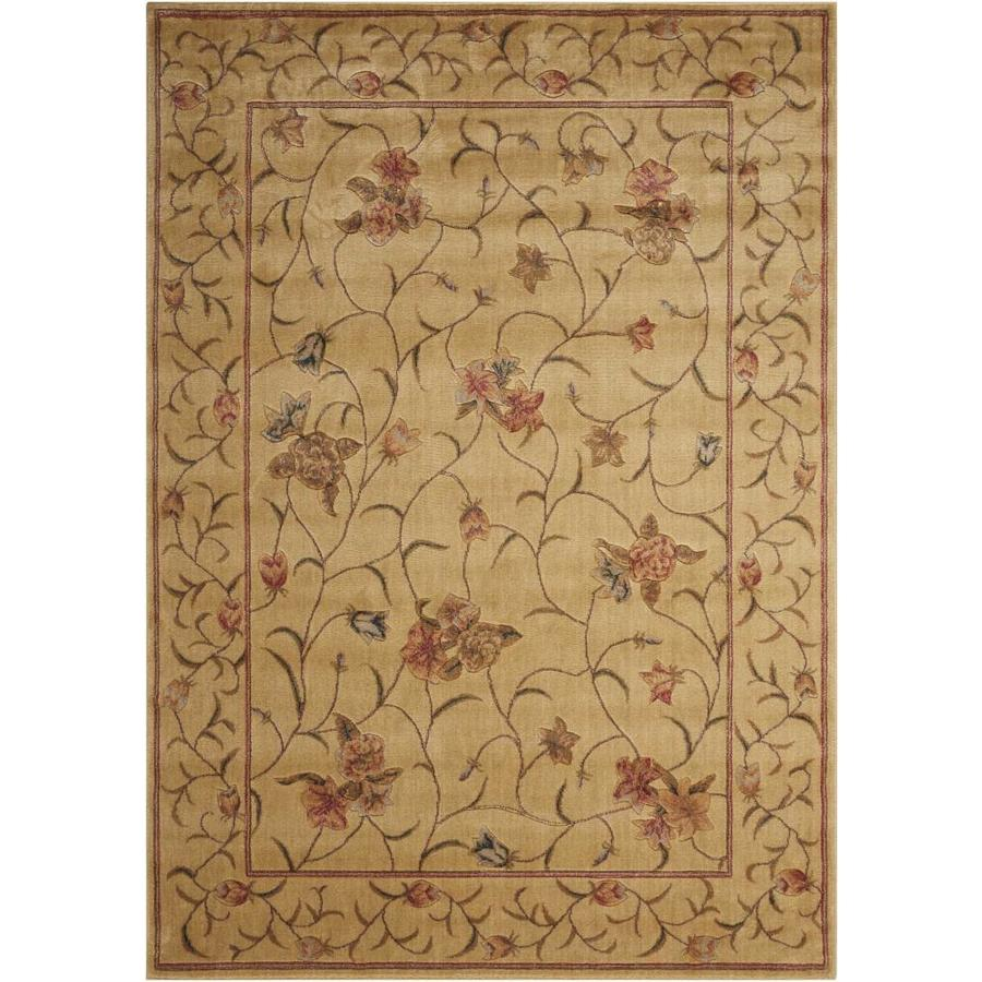 Nourison Somerset Ivory Rectangular Indoor Area Rug (Common: 5 x 7; Actual: 5.25-ft W x 7.42-ft L x 0.5-ft dia)