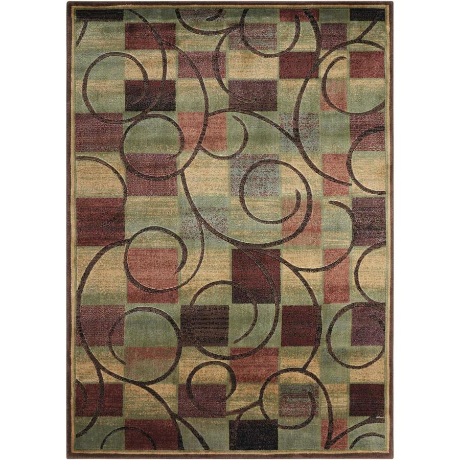 Nourison Expressions Brown Rectangular Indoor Area Rug (Common: 5 x 7; Actual: 5.25-ft W x 7.42-ft L x 0.5-ft dia)