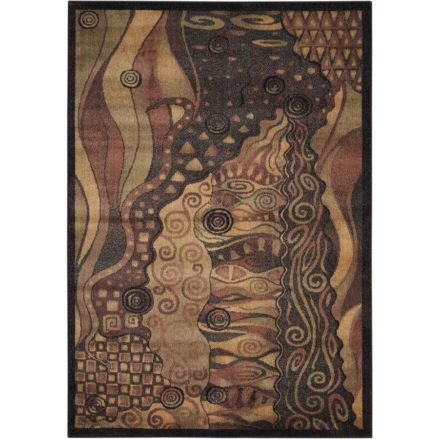 Nourison Expressions Multicolor Rectangular Indoor Area Rug (Common: 5 x 7; Actual: 5.25-ft W x 7.42-ft L x 0.5-ft dia)