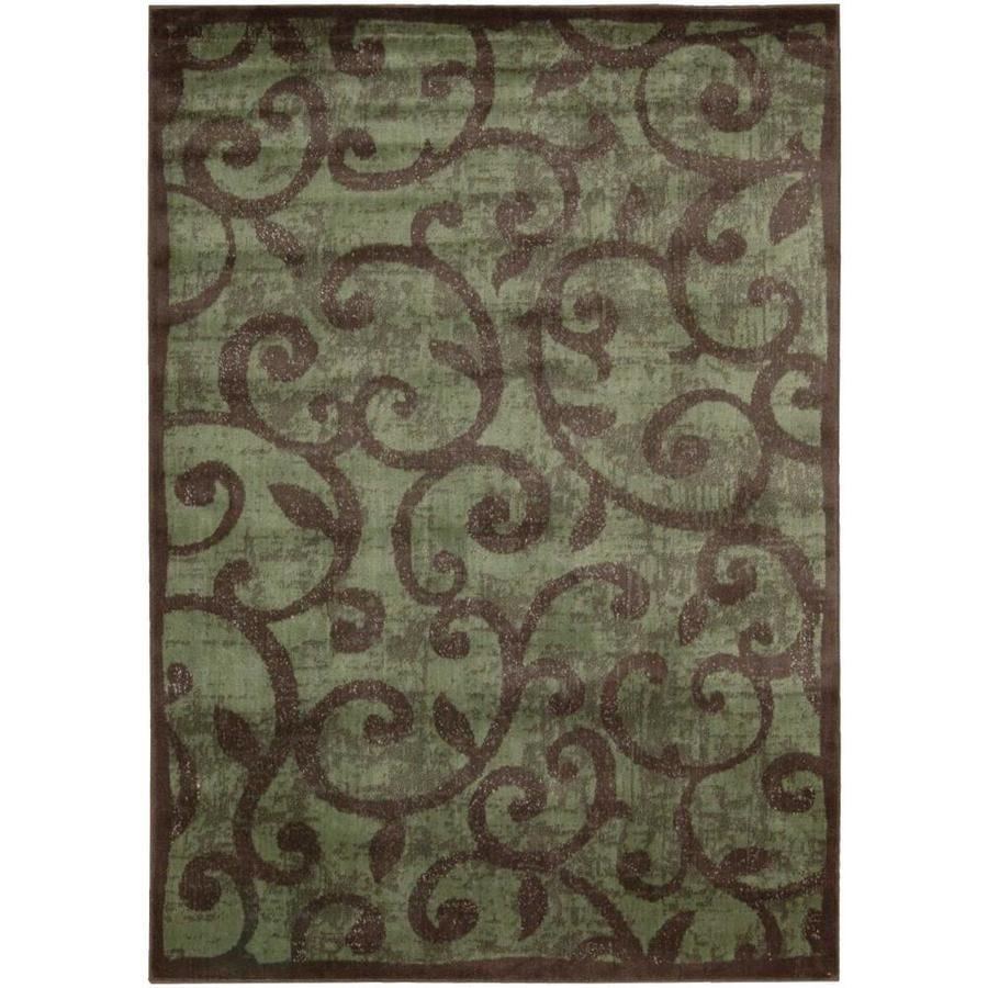 Nourison Expressions Brown Indoor Area Rug (Common: 5 x 7; Actual: 5.25-ft W x 7.4167-ft L)