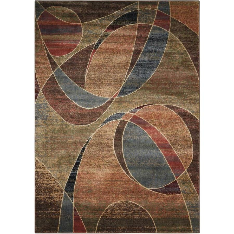 Nourison Expressions Multicolor Indoor Area Rug (Common: 5 x 7; Actual: 5.25-ft W x 7.42-ft L x 0.5-ft dia)