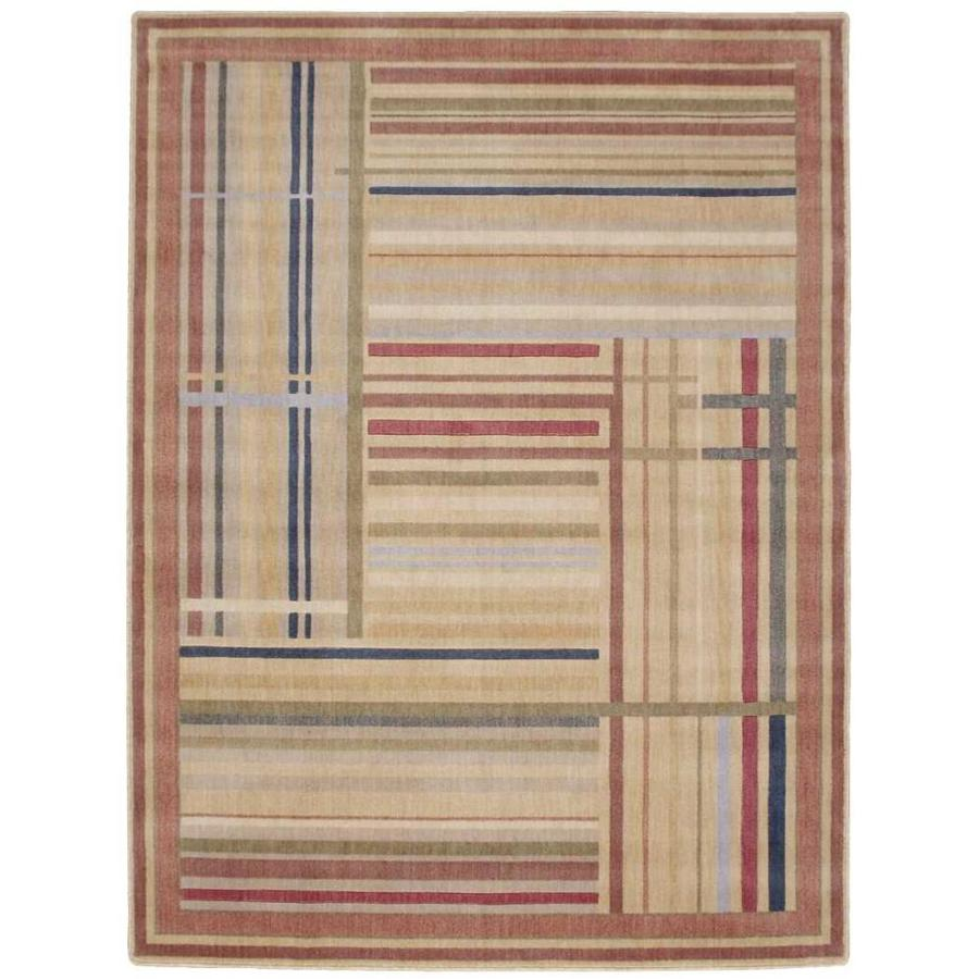 Nourison Somerset Multicolor Rectangular Indoor Area Rug (Common: 8 x 10; Actual: 7.75-ft W x 10.83-ft L x 0.5-ft dia)