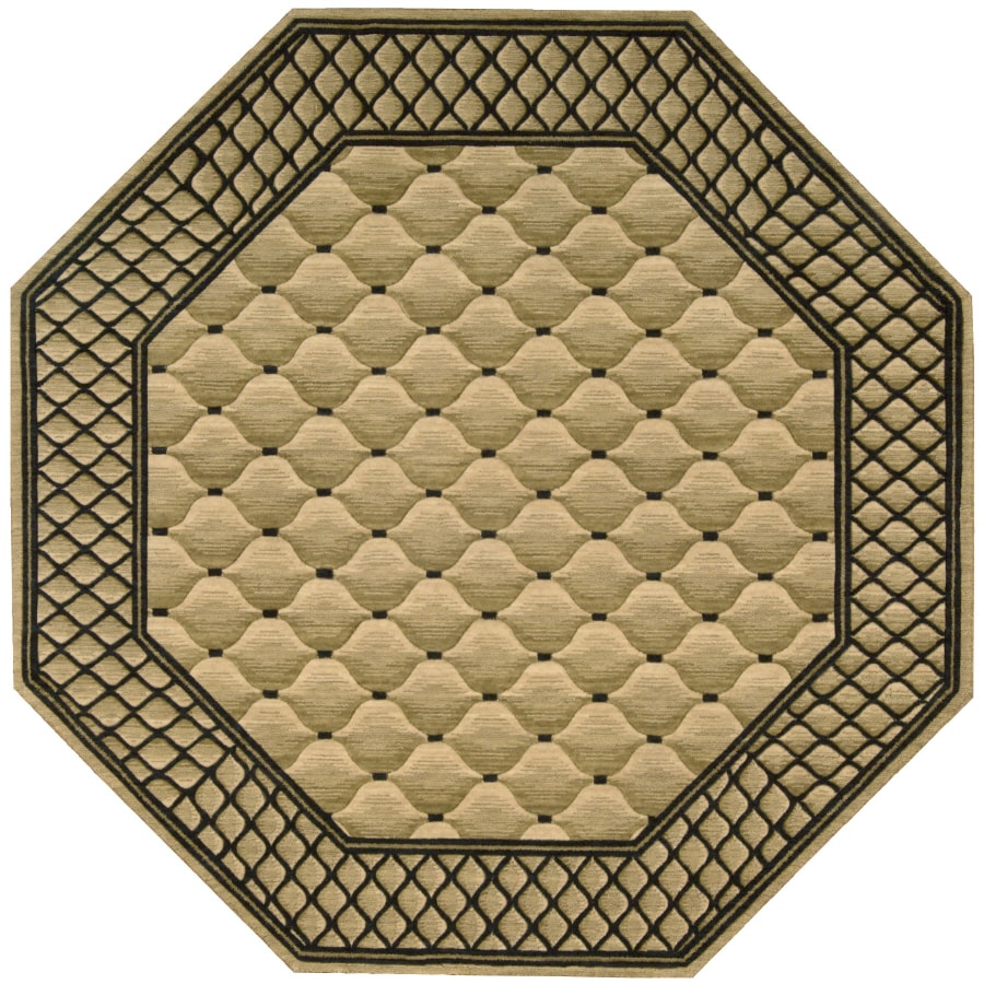 Nourison Octagons Octagonal Cream Area Rug