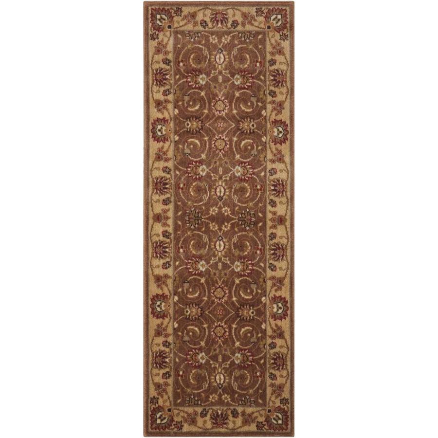 Nourison Somerset Taupe Rectangular Indoor Area Rug (Common: 2 x 7; Actual: 2.25-ft W x 8-ft L x 0.5-ft dia)