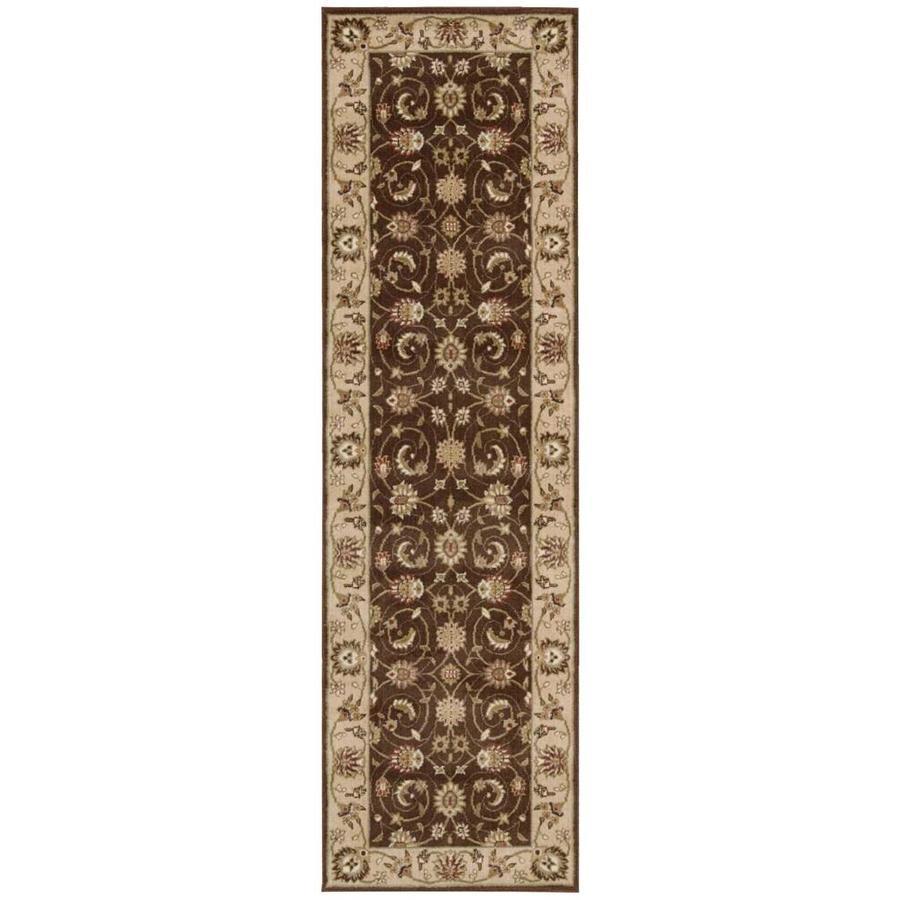 Nourison Somerset Brown Rectangular Indoor Area Rug (Common: 2 x 7; Actual: 2.25-ft W x 8-ft L x 0.5-ft dia)