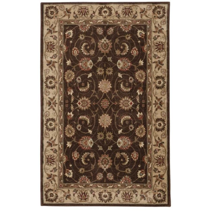 Nourison Somerset Brown Area Rug (Common: 5 x 7; Actual: 5.25-ft W x 7.42-ft L)