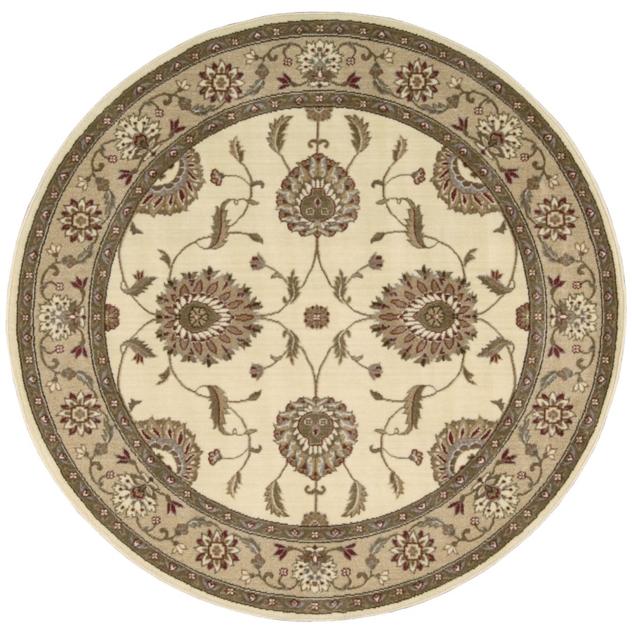 Nourison Sunset Round White Area Rug