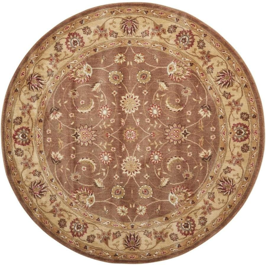 Nourison Somerset Taupe Round Indoor Area Rug (Common: 5 x 5; Actual: 5-ft W x 5-ft L x 0.5-ft dia)