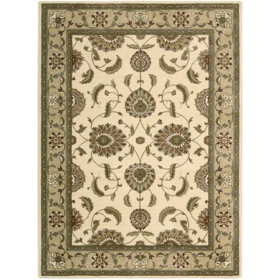 Nourison Sunset Rectangular White Area Rug