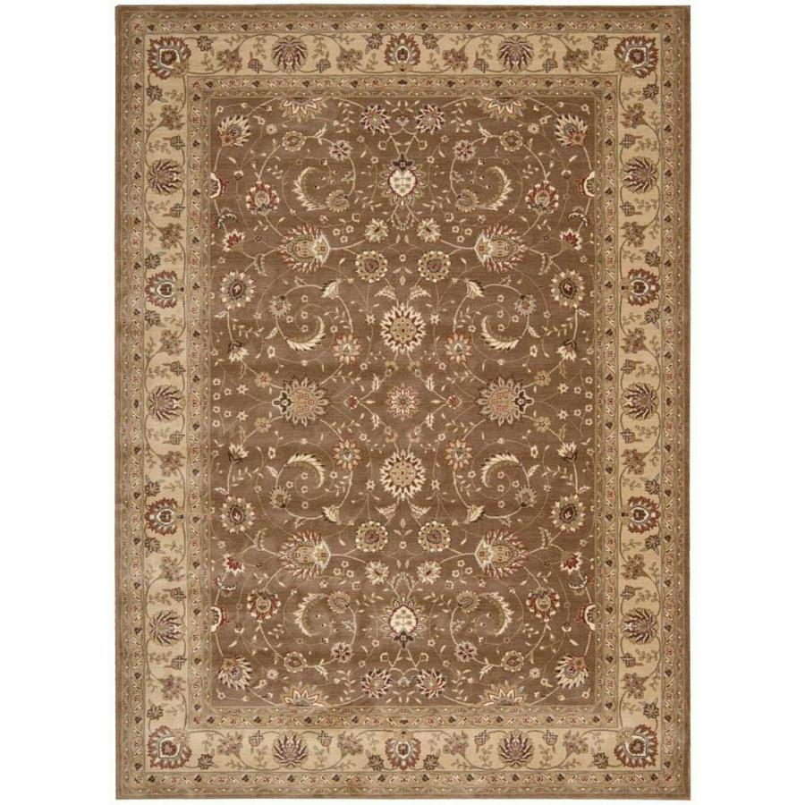 Nourison Somerset Taupe Indoor Area Rug (Common: 8 x 10; Actual: 7.75-ft W x 10.8333-ft L)