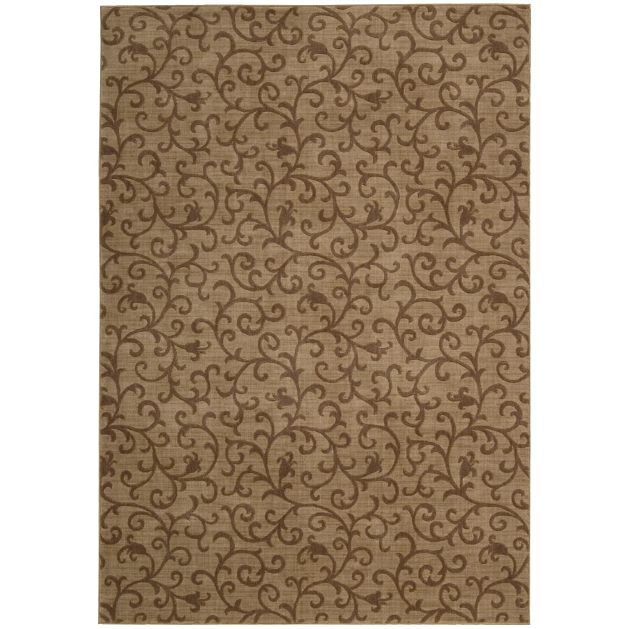 Nourison Somerset Gold Rectangular Indoor Machine-Made Oriental Area Rug (Common: 5 x 7; Actual: 5.3-ft W x 7.5-ft L)