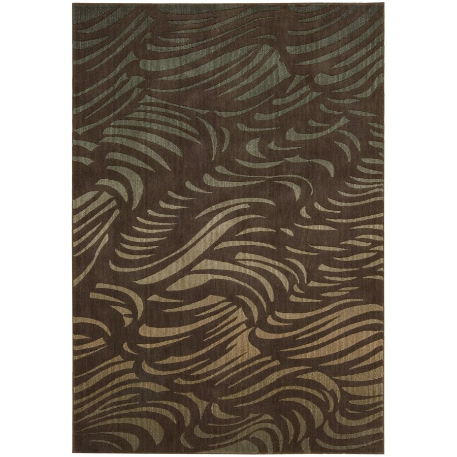 Nourison Sunset Rectangular Brown Area Rug