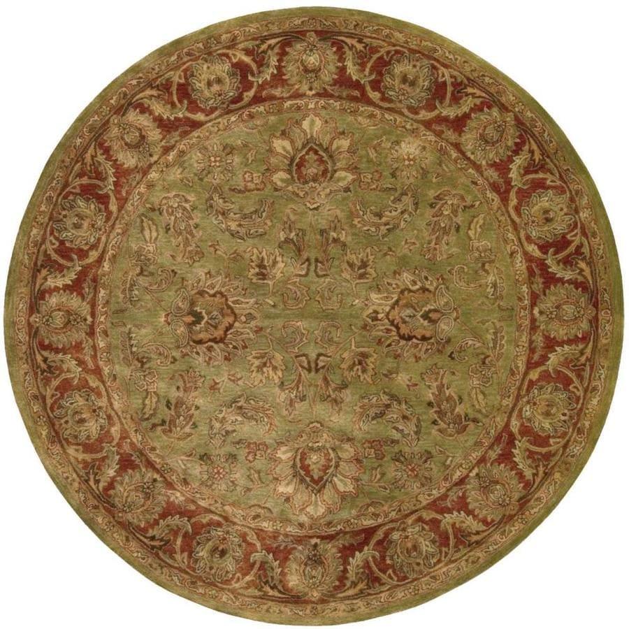 Nourison Jaipur Olive Round Indoor Handcrafted Area Rug