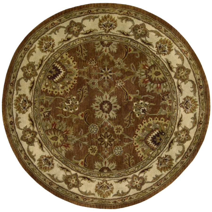 Nourison Rounds Round Red Tufted Area Rug
