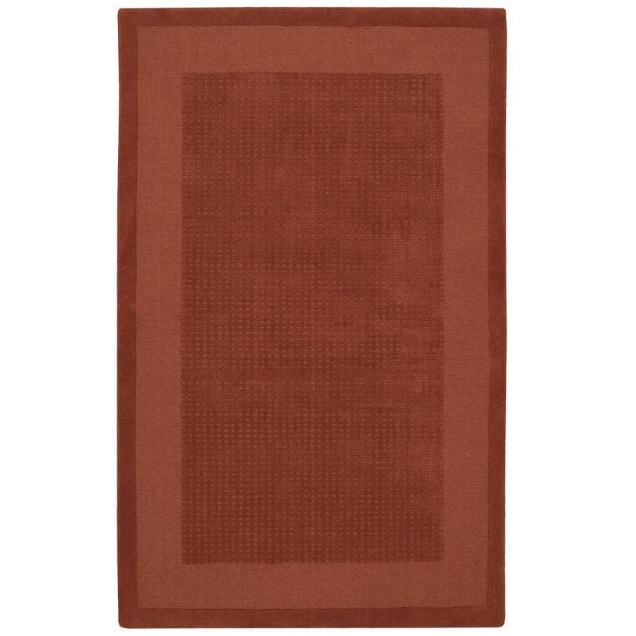 Nourison Westport Spice Handcrafted Area Rug (Common: 3 x 5; Actual: 3.5-ft W x 5.5-ft L)