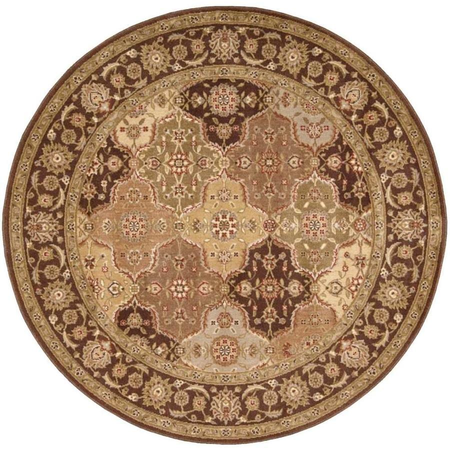 Nourison Somerset Multicolor Round Indoor Area Rug Common