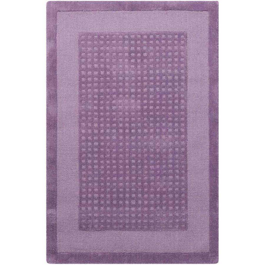 Nourison Westport Purple Rectangular Indoor Handcrafted Area Rug (Common: 3 x 4; Actual: 2.5-ft W x 4-ft L x 0.5-ft dia)