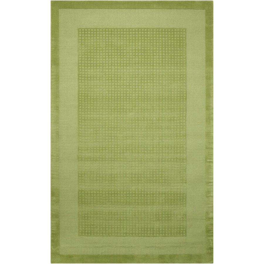 Nourison Westport Lime Rectangular Indoor Handcrafted Area Rug (Common: 5 x 8; Actual: 5-ft W x 8-ft L x 0.5-ft dia)