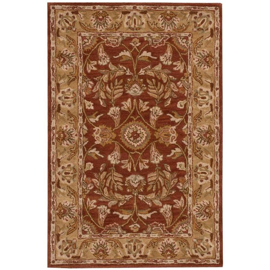 Nourison India House Rust Rectangular Indoor Handcrafted Area Rug (Common: 5 x 7; Actual: 5-ft W x 8-ft L x 0.5-ft dia)