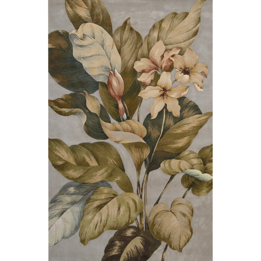 Nourison Rain Forrest Rectangular Cream Area Rug
