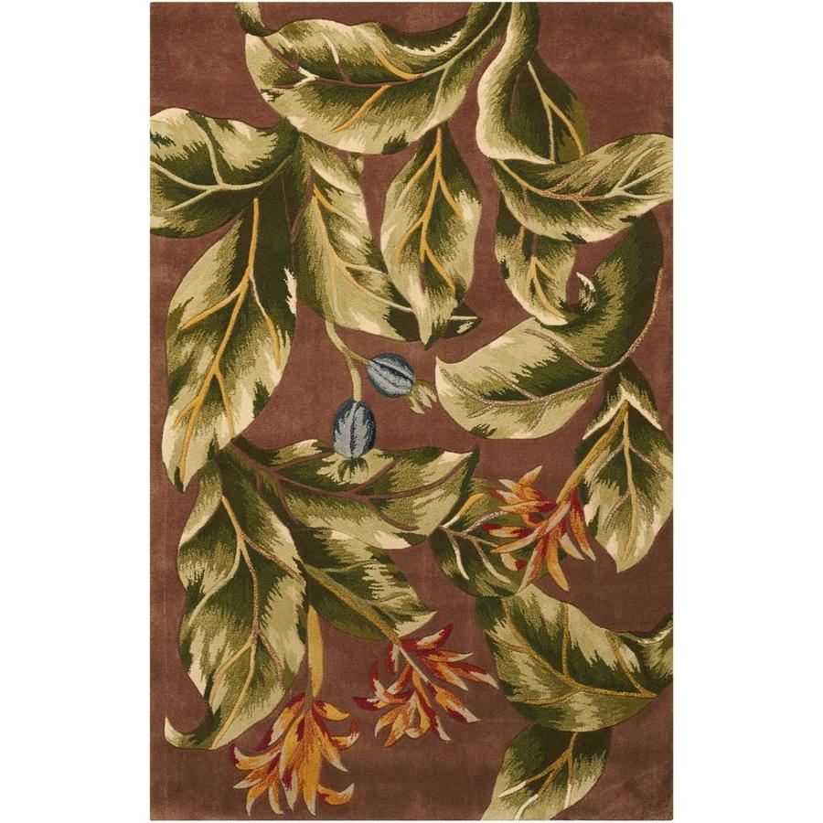 Nourison Tropics Khaki Rectangular Indoor Handcrafted Nature Area Rug (Common: 8 x 10; Actual: 7.6-ft W x 9.6-ft L)