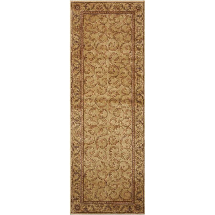 Nourison Somerset Ivory Rectangular Indoor Area Rug (Common: 2 x 6; Actual: 2-ft W x 5.75-ft L x 0.5-ft dia)