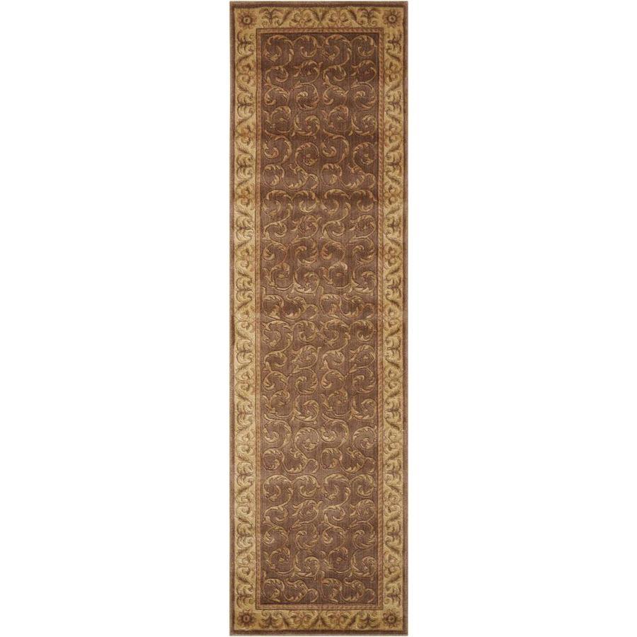 Nourison Somerset Khaki Indoor Area Rug (Common: 2 x 7; Actual: 2.25-ft W x 8-ft L x 0.5-ft dia)