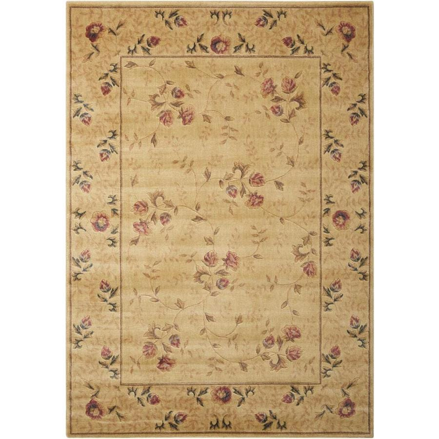 Nourison Somerset Ivory Area Rug (Common: 5 x 7; Actual: 5.25-ft W x 7.42-ft L)