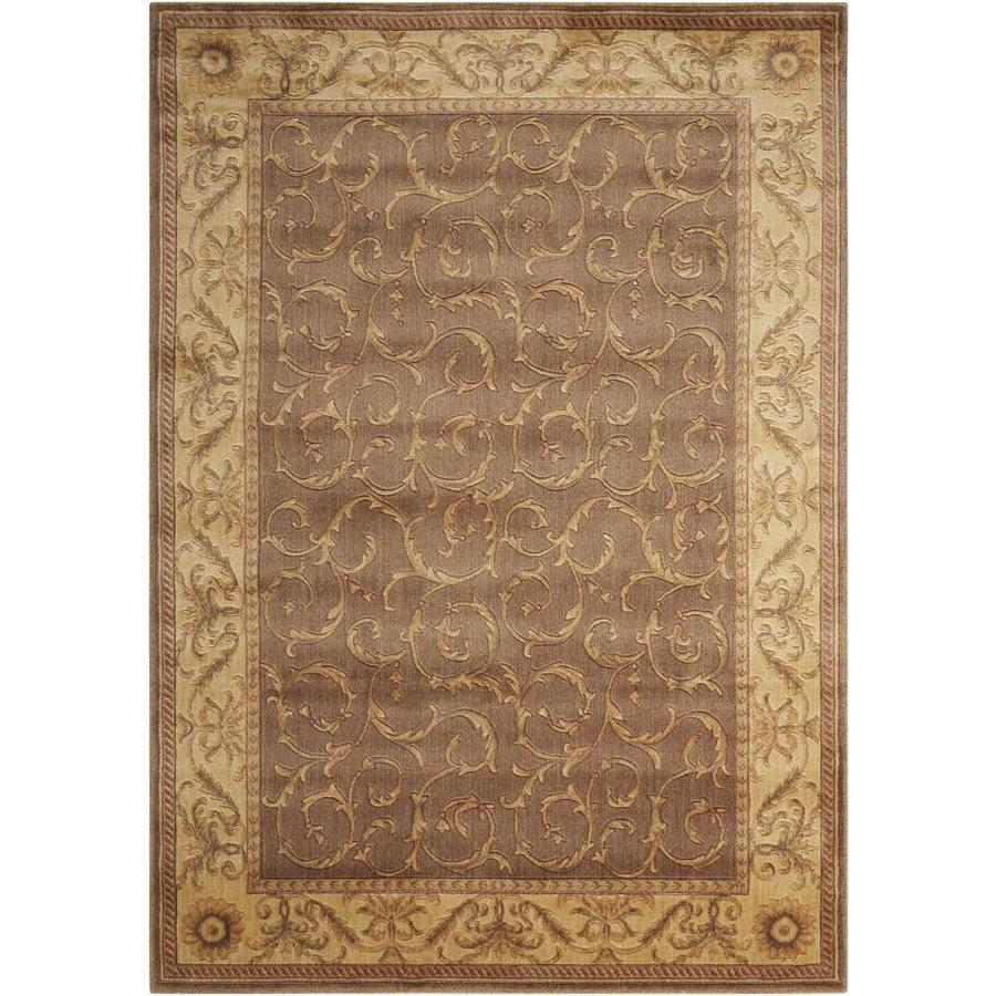 Nourison Somerset Khaki Indoor Area Rug (Common: 5 x 7; Actual: 5.25-ft W x 7.42-ft L x 0.5-ft dia)