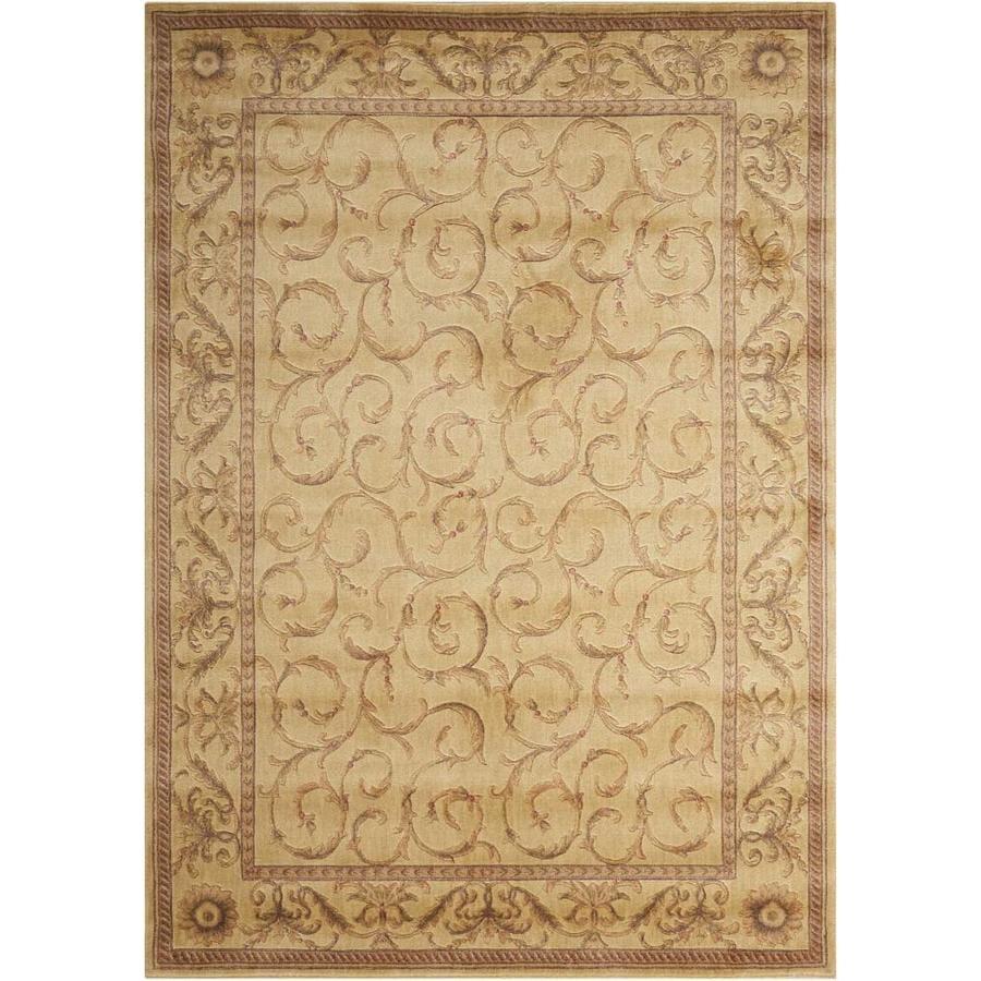 Nourison Somerset Ivory Rectangular Indoor Area Rug (Common: 8 x 10; Actual: 7.75-ft W x 10.83-ft L x 0.5-ft dia)