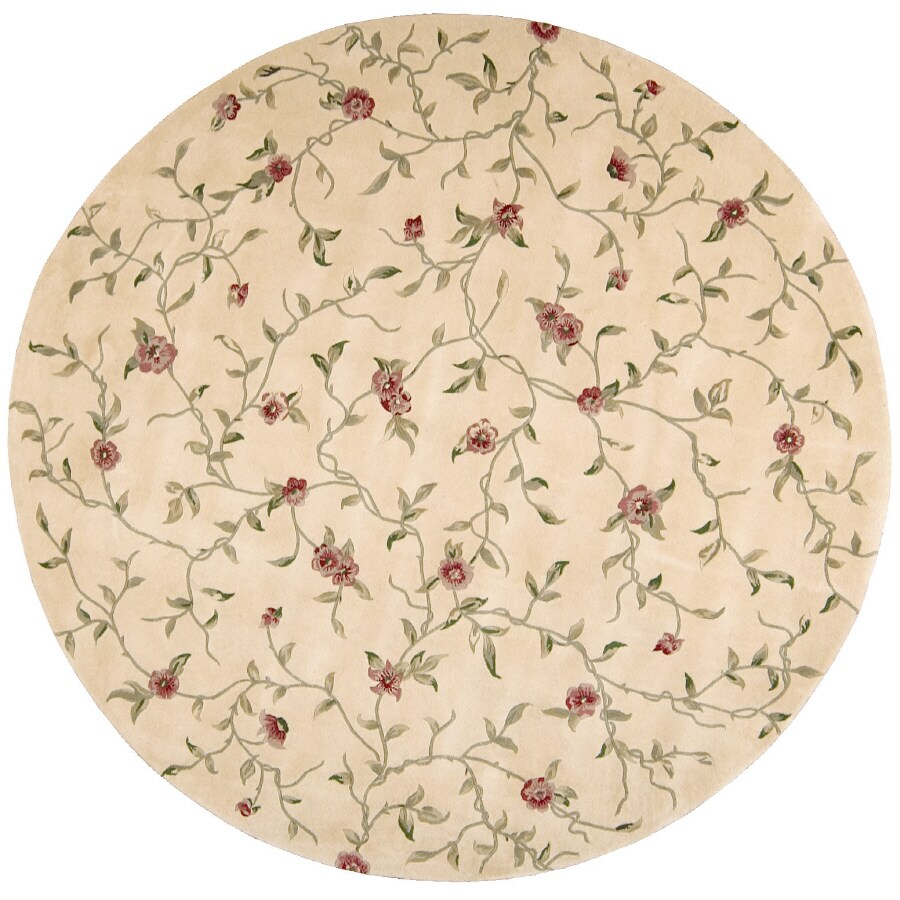 Nourison Rounds Round Yellow Tufted Area Rug