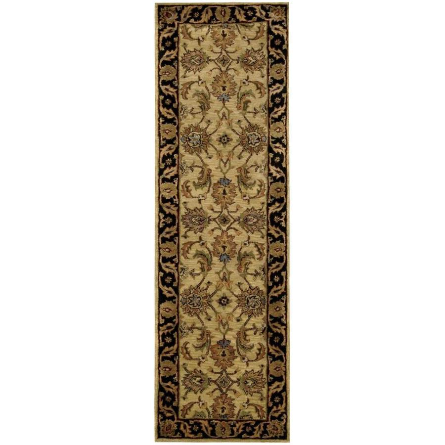 Nourison Jaipur Light Yellow Rectangular Indoor Handcrafted Area Rug (Common: 2 x 8; Actual: 2.33-ft W x 8-ft L x 0.75-ft dia)