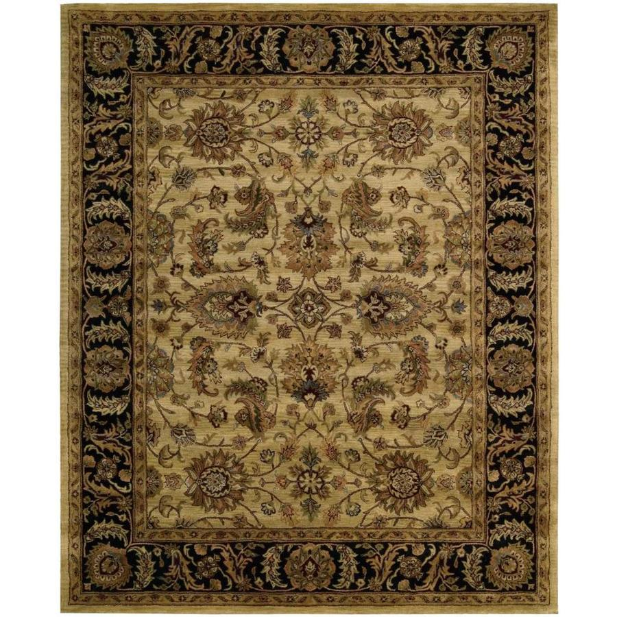 Nourison Jaipur Light Yellow Rectangular Indoor Handcrafted Area Rug (Common: 8 x 10; Actual: 7.75-ft W x 9.75-ft L x 0.75-ft dia)