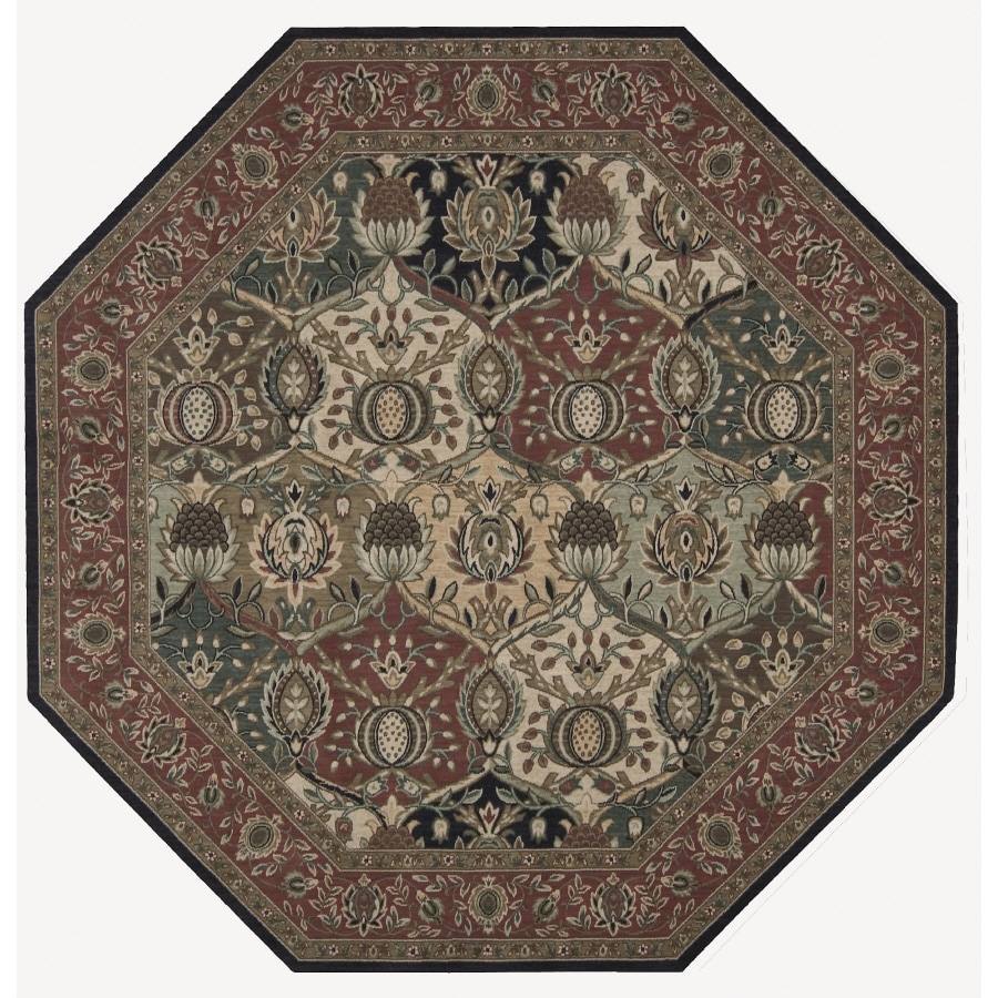 Nourison 6-ft x 6-ft Multicolor Octagons Area Rug