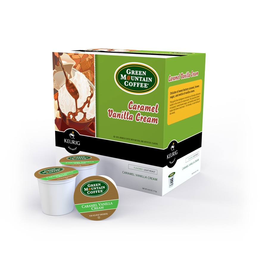 Keurig 18-Pack Green Mountain Coffee Caramel Vanilla Cream Single-Serve Coffee K-Cups