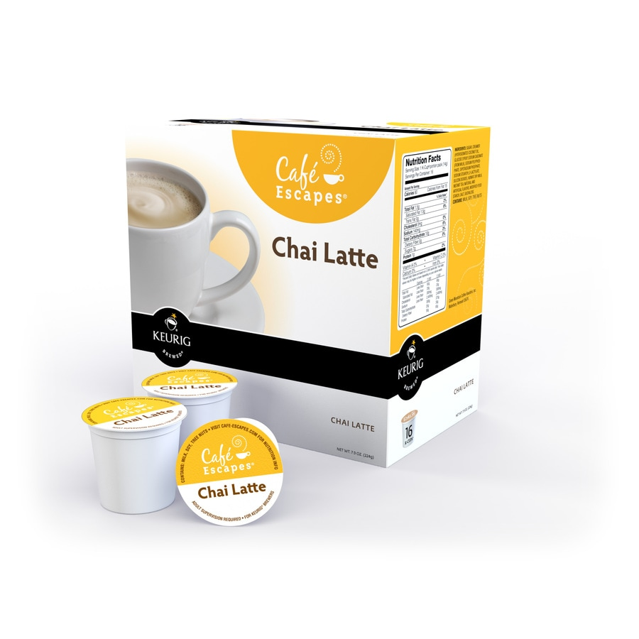 Keurig 16-Pack Cafi Escapes Single-Serve Chai Latte K-cup