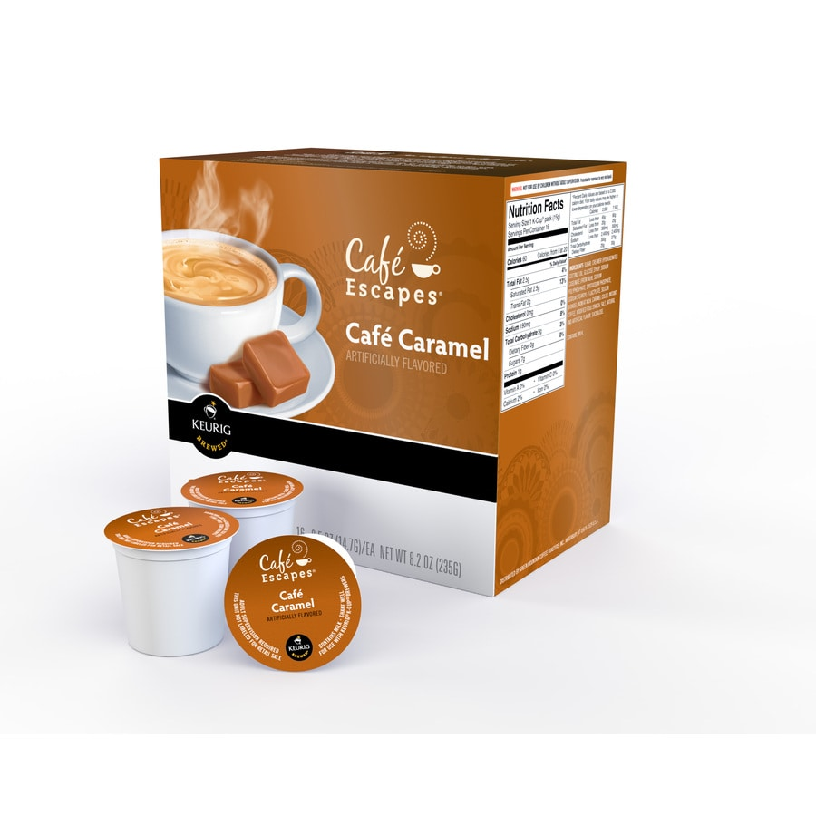 Keurig 16-Pack Cafe Escapes Caramel Single-Serve Coffee K-Cups