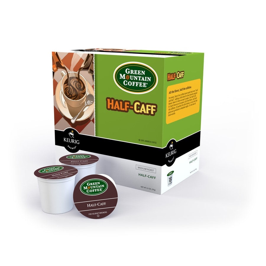 Keurig 18-Pack Green Mountain Coffee Half-Caffeinated Single-Serve Coffee