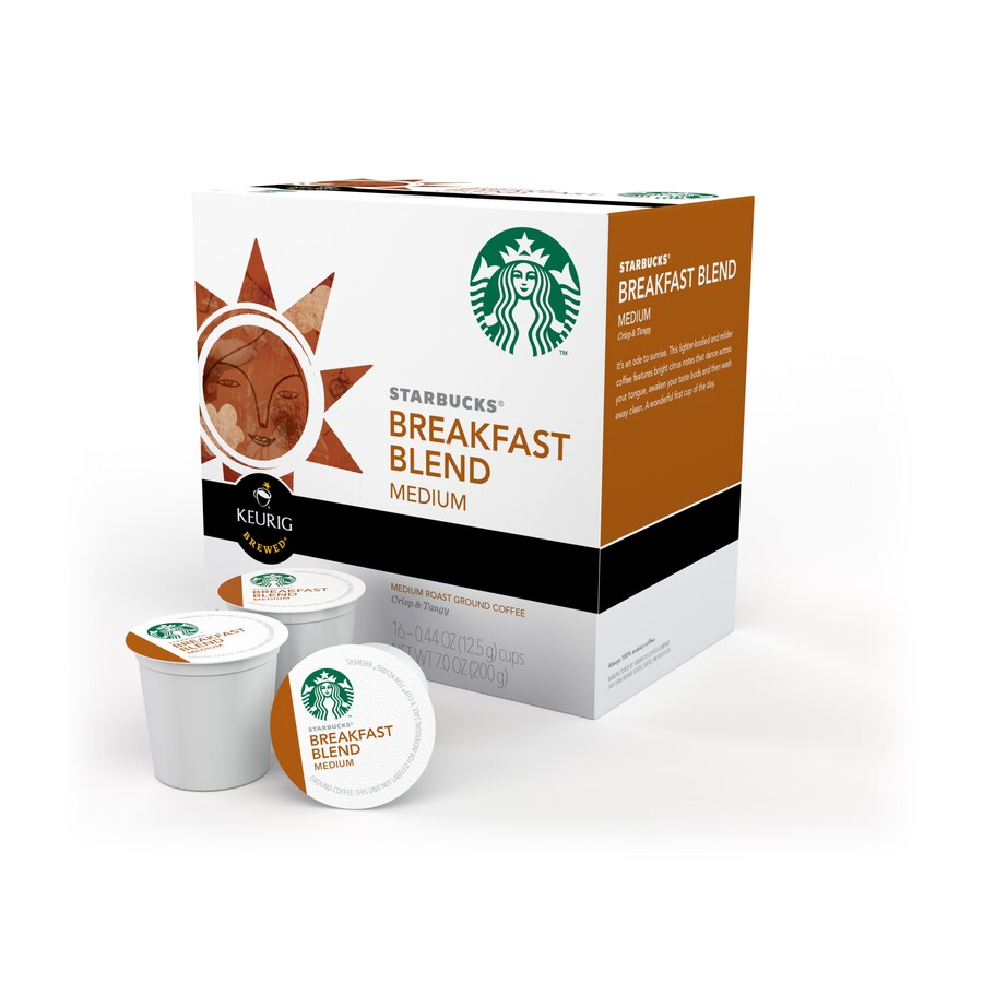 Keurig 16-Pack Starbucks Breakfast Blend Single-Serve Coffee K-cup