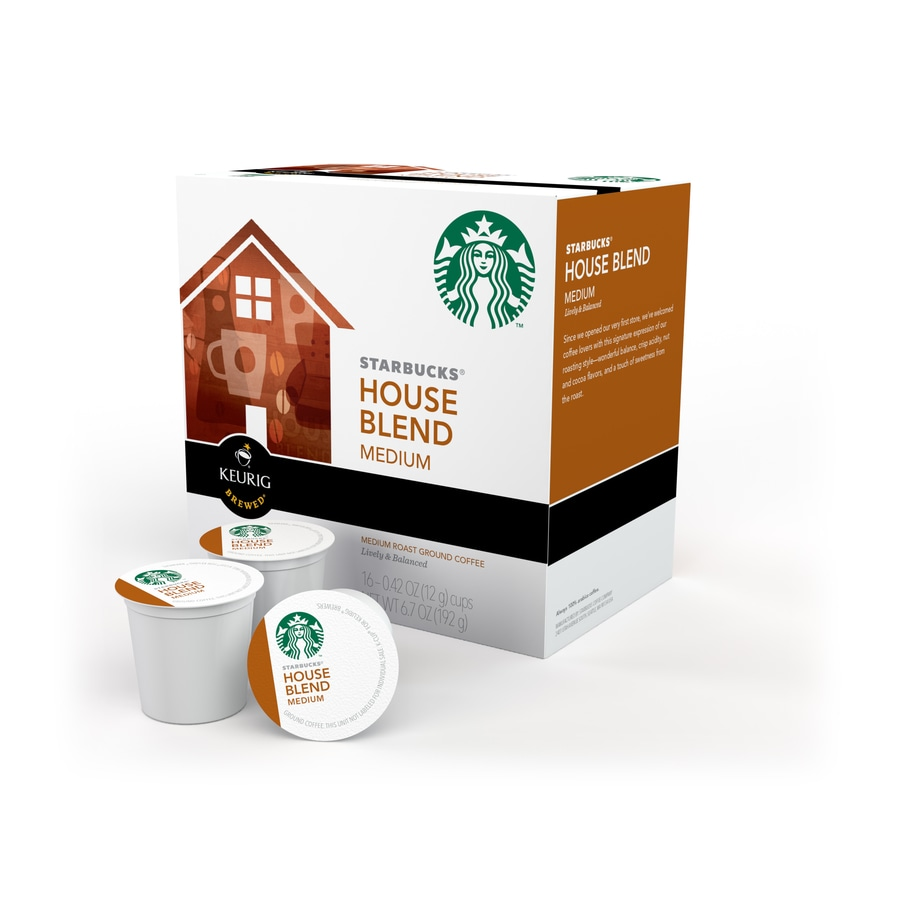 Keurig 16-Pack Starbucks House Blend Single-Serve Coffee K-cup