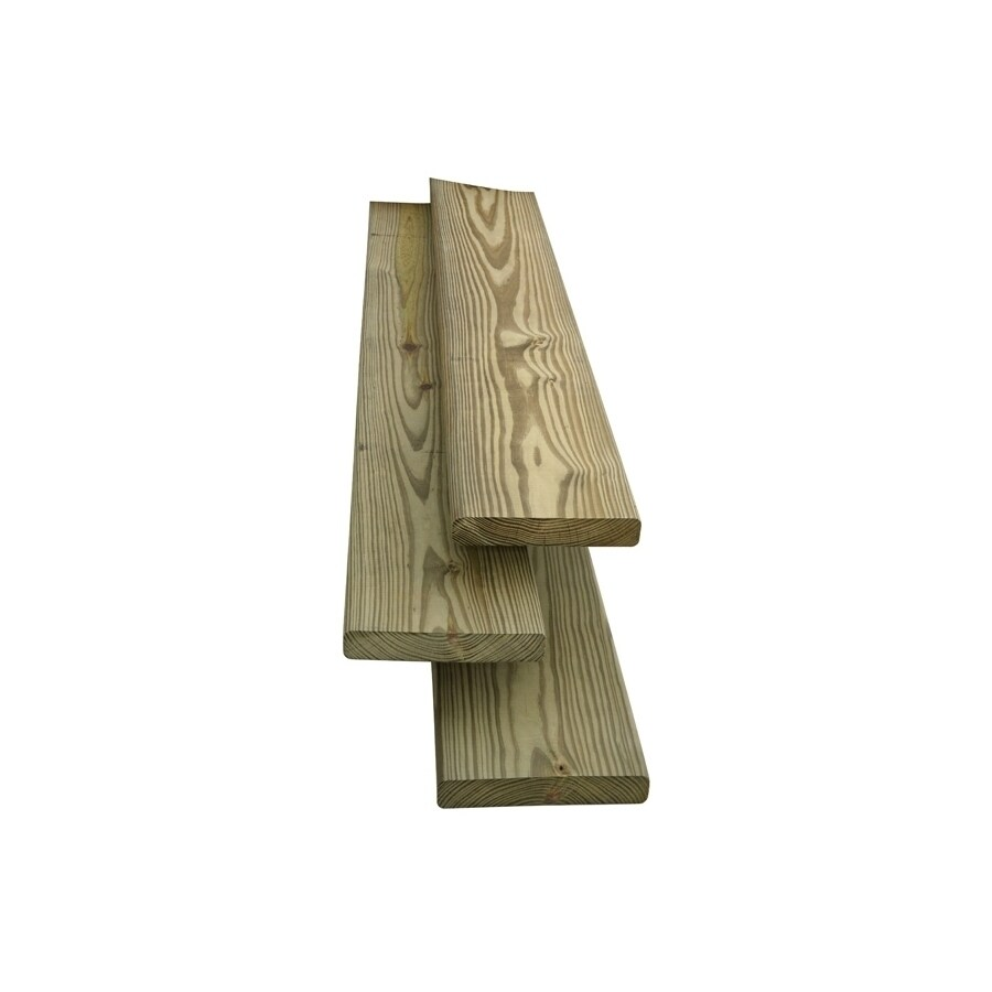 Top Choice Square Pressure Treated Unfinished Southern Yellow Pine Board (Common: 1-in x 6-in x 12-Ft; Actual: 0.75-in x 5.5-in x 12-ft)