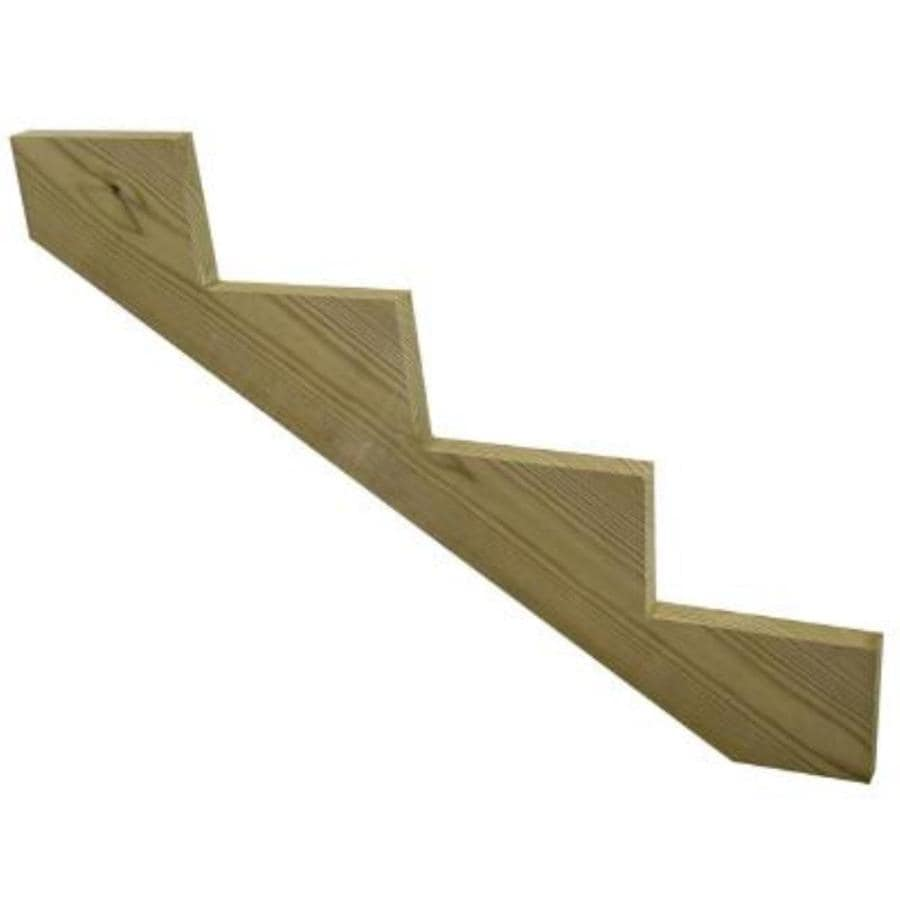 Top Choice 4-Step Pressure Treated Wood Southern Yellow Pine Deck Stair Stringer