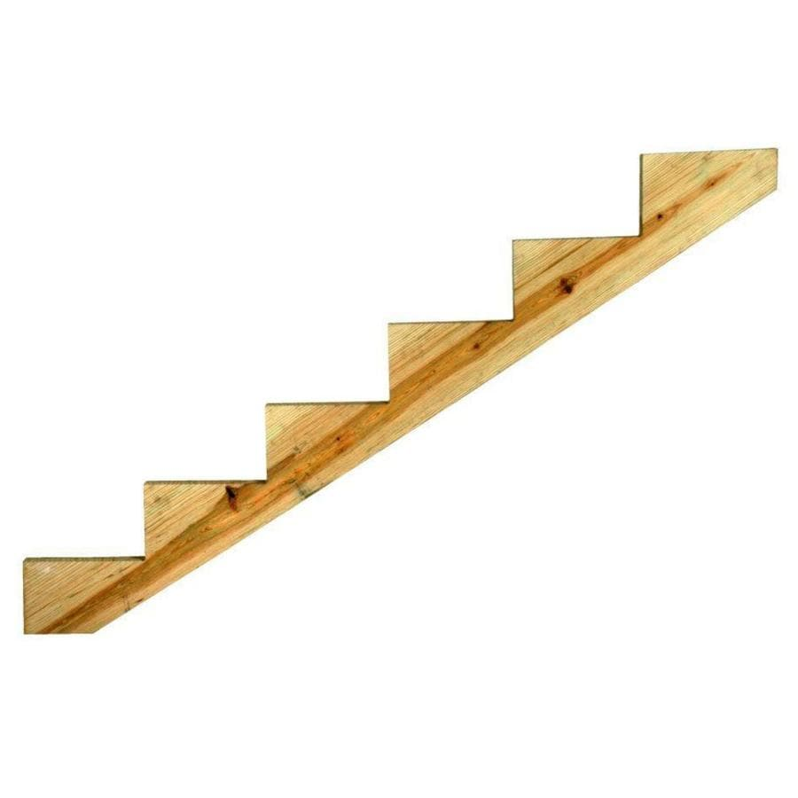 6 Step Pressure Treated Wood Southern Yellow Pine Deck Stair Stringer
