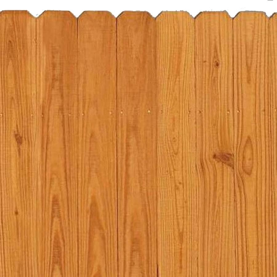 Severe Weather Pressure Treated Pine Privacy Fence Panel (Common: 6-ft x 8-ft; Actual: 6-ft x 8-ft)