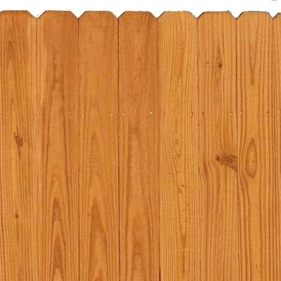 Actual 6 Ft X 8 Ft Pressure Treated Dog Ear Wood Fence Panel
