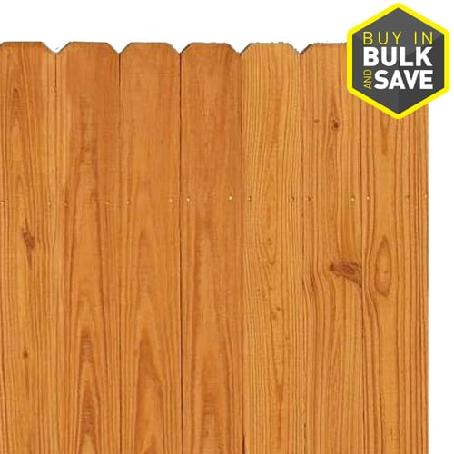 Severe Weather Actual 6 Ft X 8 Pressure Treated Dog Ear Wood Fence Panel At Lowes