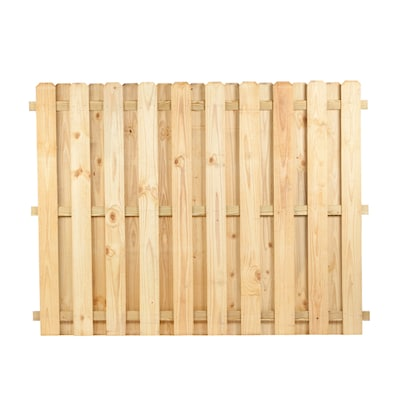 Actual 6 Ft X 8 Ft Pressure Treated Dog Ear Wood Fence