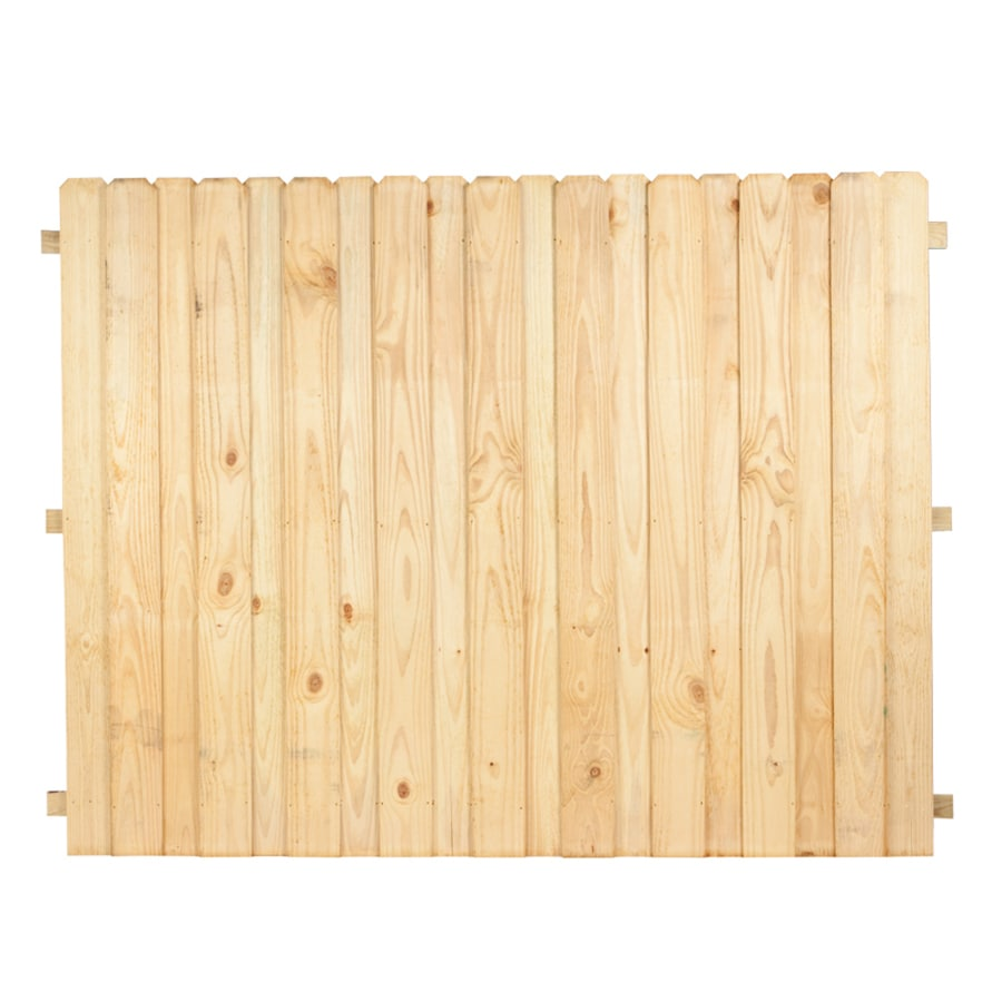 Pressure Treated Wood (Not Metal) Pine Privacy Wood Fence Panel (Common: 6-ft x 8-ft; Actual: 6-ft X